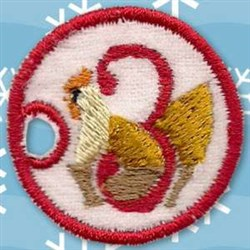 3rd Day Charm embroidery design