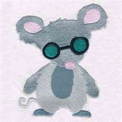 Blind Mouse embroidery design