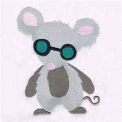 Grey Blind Mouse embroidery design