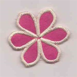 White Applique Flower embroidery design