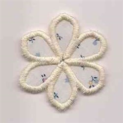 Floral Border Applique Flower embroidery design