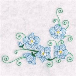 Florals Swirls embroidery design