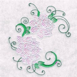 Swirling Flowers embroidery design