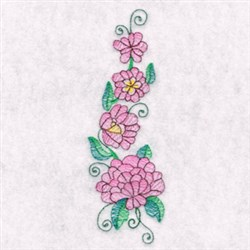 Flower Tower embroidery design