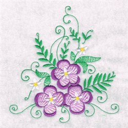 Swirl Abstract Florals embroidery design