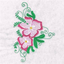 Flower Abstract embroidery design