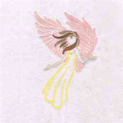 Angel Flight embroidery design