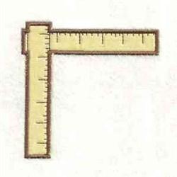 Ruler Corner Applique embroidery design