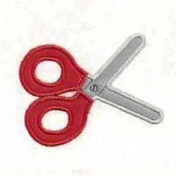 Scissors Applique embroidery design