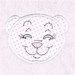Applique Bear Face embroidery design