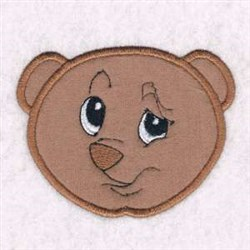 Bear Head Applique embroidery design