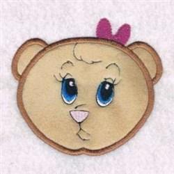 Bow Bear Applique embroidery design