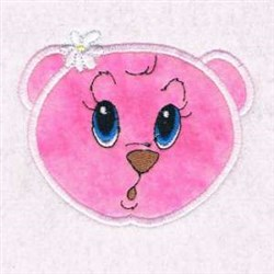 Flower Bear Applique embroidery design