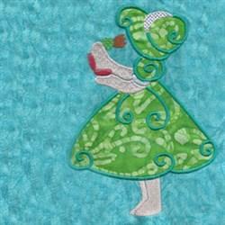 Beautiful Bonnet Girl Applique embroidery design