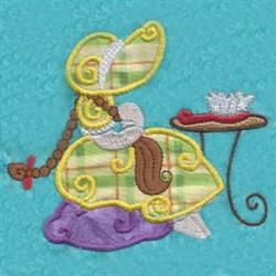 Applique Bonnet Girl embroidery design