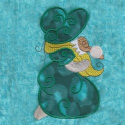 Bonnet Girl Applique embroidery design