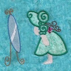 Applique Mirror Girl embroidery design