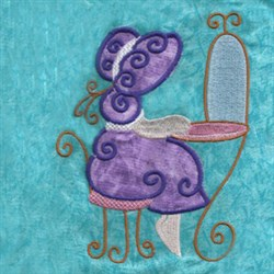 Applique Vanity Girl embroidery design