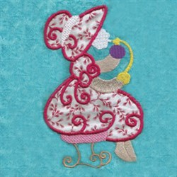 Perfume Girl Applique embroidery design