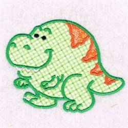 Applique Chubby Dino embroidery design