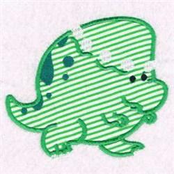 Applique Dino embroidery design