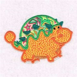 Dinosaur Applique embroidery design