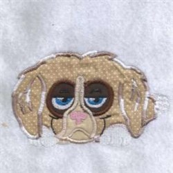 Applique Sad Puppy embroidery design