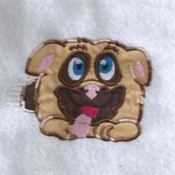 Applique Happy Puppy embroidery design