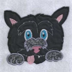 Applique Chubby Pup embroidery design