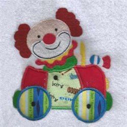 Clown Car Applique embroidery design
