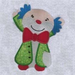 Clown Applique embroidery design