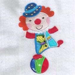 Ball Clown Applique embroidery design