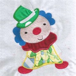Happy Clown Applique embroidery design