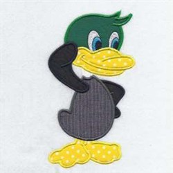 Duck Applique embroidery design