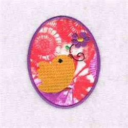 Easter Egg Chick Applique embroidery design