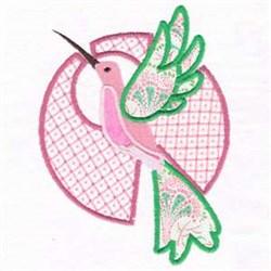 Hummingbird Applique Charm embroidery design