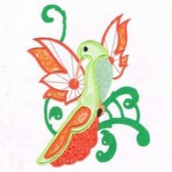 Applique Humming Bird embroidery design