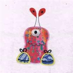 Applique Monster Antennae embroidery design