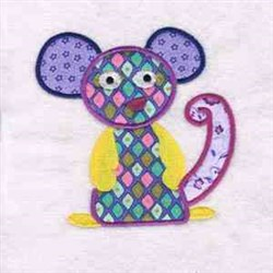 Applique Monster Mouse embroidery design