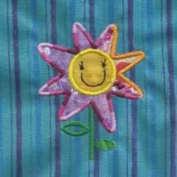 Happy Flower Applique embroidery design
