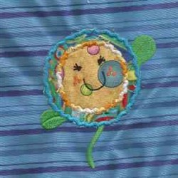 Circle Flower Applique embroidery design