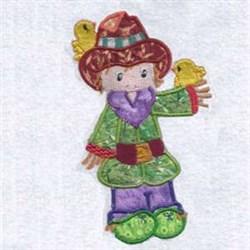 Applique Scarecrow embroidery design