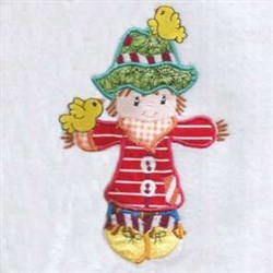 Applique Harvest Scarecrow embroidery design