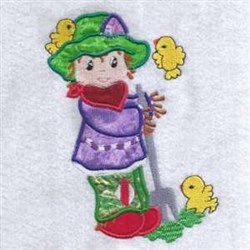 Applique Scarecrow Fall embroidery design