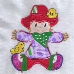 Applique Scarecrow Autumn embroidery design