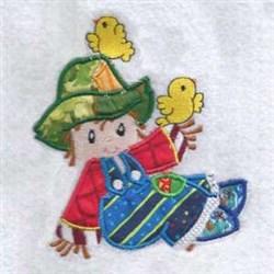 Applique Scarecrow Harvest embroidery design