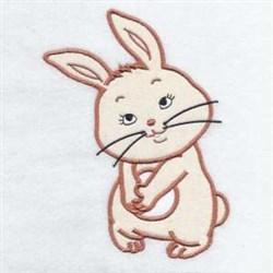 Bunny Rabbit Applique embroidery design