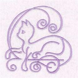 Cat Swirl embroidery design