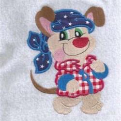 Attitude Puppy embroidery design
