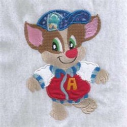 Jersey Dog embroidery design